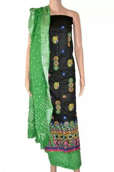 WE ARE MANUFACTURERS, WHOLESALERS AND DISTRIBUTORS OF TRADITIONAL KUTCH  EMBROIDERED SETS IN PURE GLAZED COTTON TEAMED WITH BANDHEJ SALWAR DUPATTA. FOR WHOLESALE INQURIES CONTACT RUSHABH SUTARIA 09909272587 (WhatsApp)