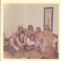 "Allman Brothers Band ~ 1969 in New York City ... (L>R) BACK: Mike Callahan, Kim Payne, Berry Oakley, Duane Allman. MIDDLE: Butch Trucks, Dickey Betts, Joseph ""Red Dog"" Campbell, Gregg Allman and FRONT & CENTER: Jaimoe. •Photographer: Salli Jo Doud"