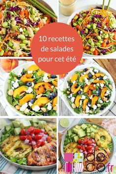 10 salad recipes to adopt urgently! - Discover 10 salad recipes to adopt urgently! Batch Cooking, Easy Cooking, Cooking Recipes, Quinoa Salad Recipes, Healthy Salad Recipes, Salad Bar, How To Cook Quinoa, Food Inspiration, Entrees