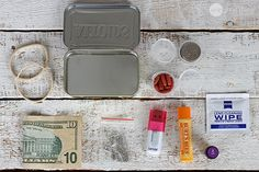 """5 Mini DIY Emergency Kits: First Aid, Sewing, Emergency Candle, Wilderness Survival, and """"Urban Survival""""."""