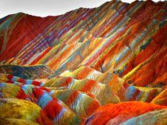 Rainbow landscape of Danxia, China