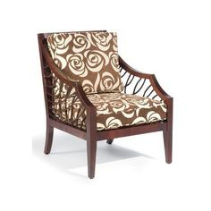 Sam Moore Ellis Exposed Wood Arm Chair Upholstery: 2239 Linen, Finish: Espresso