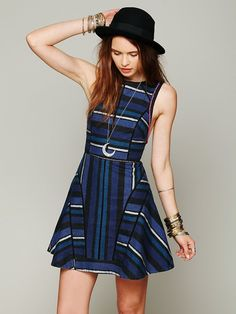 Free People FP New Romantics Painted Stripe Dress at Free People Clothing Boutique