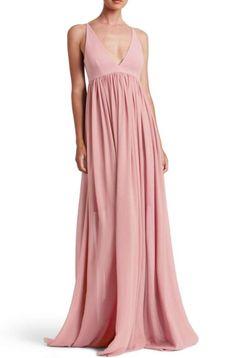 "Dress The Population Bridal ""Phoebe"" Chiffon Dress Wedding, Large"