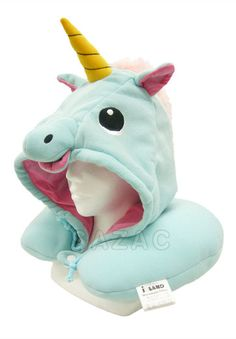 Kigurumi Shop | Blue Unicorn Neck Pillow - Animal Onesies Animal Pajamas by Sazac
