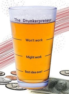 """Funny Brainstorming Glass - """"the DrunkerPreneur"""" Beer Mug. - Funny Brainstorming Glass – """"the DrunkerPreneur"""" Beer Mug. Gifts For Beer Lovers, Beer Gifts, Lovers Gift, Great Father's Day Gifts, Cool Gifts, Awesome Gifts, Awesome Stuff, Christmas Gifts For Boyfriend, Boyfriend Gifts"""