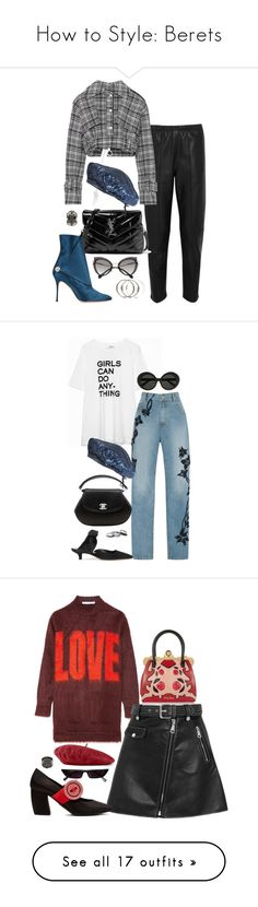 """""""How to Style: Berets"""" by malurodz ❤ liked on Polyvore featuring Balenciaga, Off-White, Miu Miu, Yves Saint Laurent, Manolo Blahnik, Monsoon, Alexander McQueen, Zadig & Voltaire, Jonathan Simkhai and Chanel"""