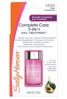 Say goodbye to dry and brittle nails. Sally Hansen's Complete Care 7-in-1 Nail Treatment #ad #SallyStrong @sallyhansen