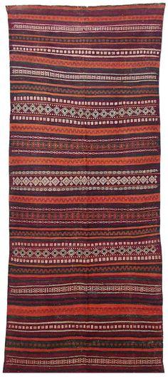 270x115 cm antik orient Nomaden beloch kelim Afghan bauern kilim Rarität No-15