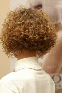 lovely perm in short hair
