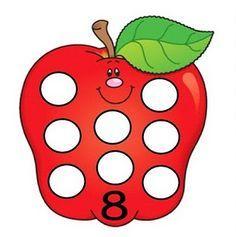 Fun number flashcards for preschool - Preschool Apple Theme, Numbers Preschool, Preschool Letters, Math Numbers, Preschool Math, Number Flashcards, Flashcards For Kids, Phonics Song, Alphabet Phonics