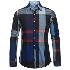 Plaid Turn down Collar Long Sleeve Shirt For Men ($13) ❤ liked on Polyvore featuring men's fashion, men's clothing, men's shirts, men's casual shirts, mens longsleeve shirts, mens long sleeve shirts, mens tartan shirt, mens collared shirt and mens long sleeve collared shirts