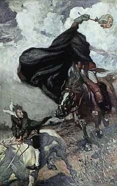Keller, Arthur Ignatius (b,1866)- Headless Horseman- F- W Irving's 'Legend of Sleepy Hollow', 1906