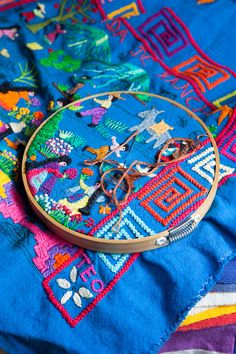 Michoacan embroidery. Mexico
