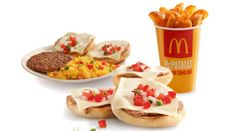 Mexico Mexican franchises serve McMolletes, a fast-food version of a traditional breakfast dish consisting of refried beans, cheese and salsa on a roll. The lunchtime crowd can also opt for McPatatas (fried potato wedges) instead of the traditional McDonald's fries.  Read more: http://magazine.foxnews.com/food-wellness/most-envy-inducing-mcdonald's-items-around-world#ixzz2fVysFlJk