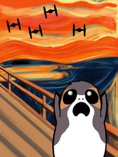 Star Wars The Porg Scream by Brandtk on DeviantArt