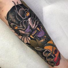 "NeoTraditional on Instagram: ""cover up neri guariti #coveruptattoo #coverup #neotraditionaltattoo #neotraditional #neotradi #panter #pantertattoo #cover #ink…"" -  - #CoverUpTattoo Big Cat Tattoo, Tiger Tattoo, Forearm Tattoos, Body Tattoos, Tatoos, Wolf Tattoo Traditional, Sailor Jerry Tattoo Flash, Jaguar Tattoo, Black Panther Tattoo"