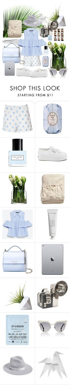 """Light summer colors 🐚"" by rocio-hidalgo-garnica ❤ liked on Polyvore featuring Glamorous, Fresh, Marc Jacobs, Superga, LSA International, H&M, Zara, Byredo, Givenchy and Starskin"