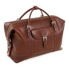 Overnight bag - Siamod Amore Leather Duffel Bag - Cognac