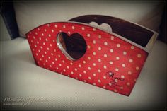 Handmade wooden basket with lovely dots :)