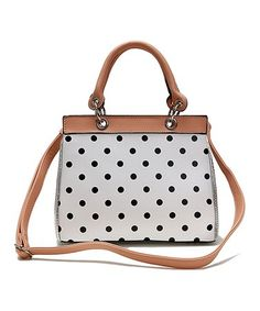 Take a look at this Salmon Polka Dot Satchel on zulily today!