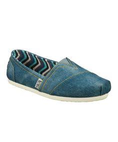 Denim Blue Jean Baby Slip-On Shoe