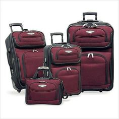 Travel Select Amsterdam 4-piece Luggage Set , Color Red (TS-6950) - http://www.learnjourney.com/discount-travel-gear-free-shipping-wholesale/travel-select-amsterdam-4-piece-luggage-set-color-red-ts-6950/
