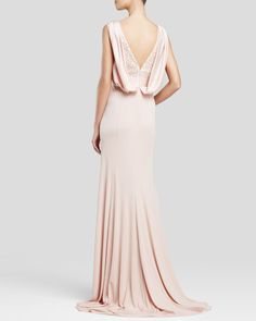 Vera Wang Sequin Bodice Gown