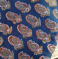 indian block print cotton fabric SALE by urbanprairiegirl on Etsy
