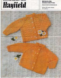 Hayfield 1286 PDF Vintage Pattern Baby Cardigans on Etsy, ¥319