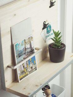 diy anleitung minimalistisches schl sselbrett selber bauen via pinterest. Black Bedroom Furniture Sets. Home Design Ideas