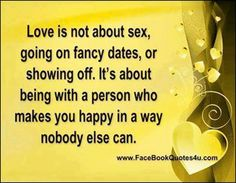Love not about sex