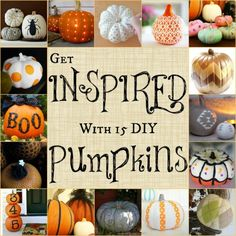 These pumkins are awesome! They bring a nice change from the normal  pumkins that we see on Halloween . It's an great idea and a fun project to do with family and friends. I love it!