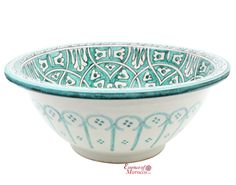 Moroccan-Washbasin-Wash-Basin-Sink-Ceramic-Hand-Painted-40-cm-Free-Waste-SW202
