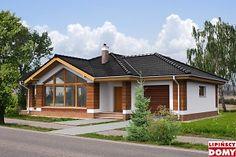 Duże okna, kuchnia między jadalnią a salonem, można ją przerobić na wyspe, albo przesunąć/powiększyć/połączyć z jadalnią lub salonem