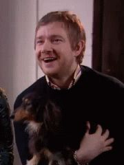Martin and one of his dogs.