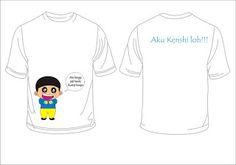 Kaos: ini desain pertama kami, kaos yang kami buat bahan...