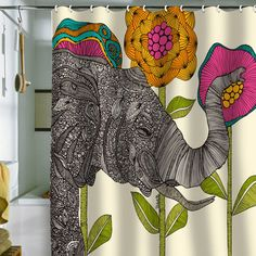 Elephant Shower Curtain by DENY Designs