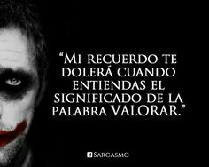 Joker Quotes, Funny Quotes, Good Wife Quotes, Quotes En Espanol, Spanish Quotes, Sentences, Quotations, Qoutes, Favorite Quotes