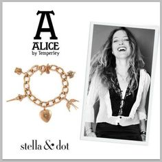 Alice Temperley has joined forces with Stella & Dot in designing an Alice In Wonderland Inspired collection. This charm bracelet is my personal favorite!