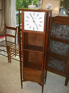 Vintage Danish Modern Grandfather Floor Clock W Shelves Mid Century Ebay Art