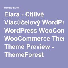 Elara - Citlivé Viacúčelový WordPress WooCommerce Theme Preview - ThemeForest
