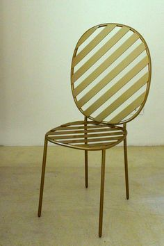 Brass chair by Nika Zupanc at Spazio Rossana Orlandi in Milan /// More on Interiorator.com