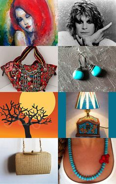 """An Eclectic Mix"" Beautifully Curated by Sandy @ https://www.etsy.com/shop/PSSimplyVintage Featuring my Rare HUGE Vintage Banjara Tribal Hand Embroidered Ethnic Coins and Tassels Handbag @ https://www.etsy.com/listing/159358117/rare-huge-vintage-banjara-tribal-hand?ref=tre-2722570747-3"