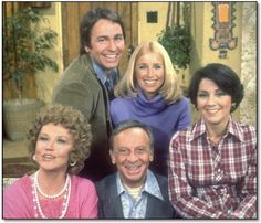 Three's Company, the greatest sitcom. John Ritter, Suzanne Somers, Joyce DeWitt, Aundra Lindly, and Norman Fell.