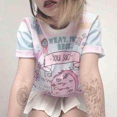 t-shirt pastel grunge soft grunge pink kawaii kawaii grunge jumpsuit sweater funny pastel goth pink cool