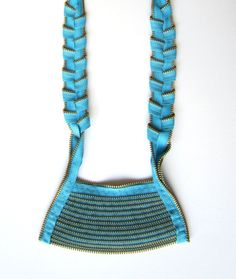 GOLD AZURE Zipper Necklace by catrinel777 on Etsy, $99.00