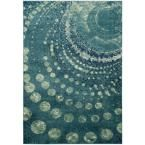 Constellation Vintage Turquoise/Multi 8 ft. 10 in. x 12 ft. 2 in. Area Rug