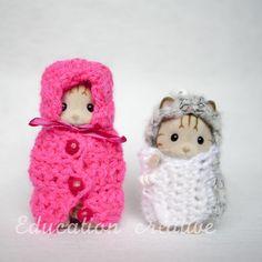 #DIY de petites tenues #originales pour les #SylvanianFamilies par #Educationcreative
