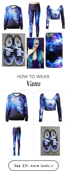"""Galaxy"" by fashforfunfff on Polyvore featuring Vans"